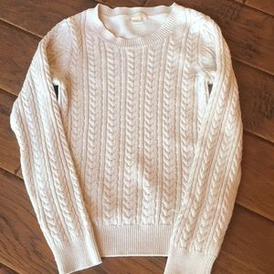 Cream Cable Knit Sweater - X-Small